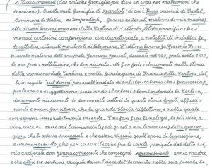 manoscritto del dr. Giuseppe Nicola Viceconte medico dentista e cultore di storia locale