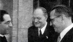 Giuseppe De Luca, Giuseppe Ungaretti e Alfredo Schiaffini nel 1937