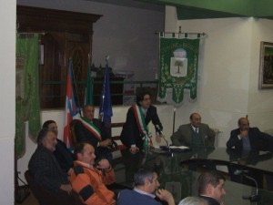 incontro tra le delegazioni del comune di Bioglio e Francavilla (Bioglio 30 aprile 2010)