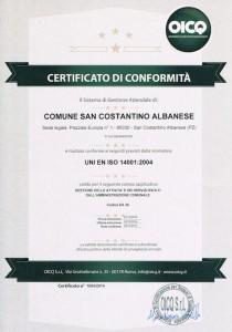 Certificato sistema di Gestione Ambientale (1)