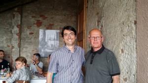 I sindaci Stefano Ceffa e Jean-Noel Rambert