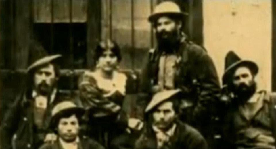 Il brigante Antonio Franco e Serafina Ciminelli con parte della banda