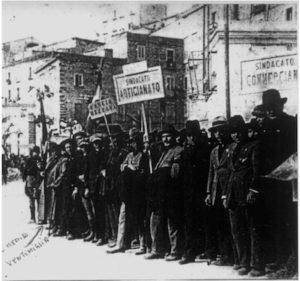 foto manifestazione sindacale fascista